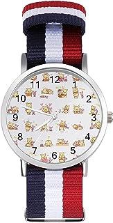 Winnie Pooh Bear - Reloj de ocio para adultos, moderno, bonito y personalizado con carcasa de aleación, reloj deportivo ca...