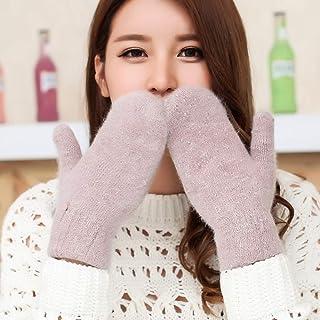 SfHx 手袋女性の冬の厚い二重層ぬいぐるみ暖かい学生かわいいミトン