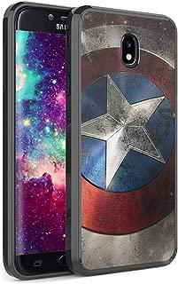 Capsule Case Compatible with Samsung Galaxy J7 2018 (J737), J7 Star, J7 Aero, J7 Refine, J7V 2nd Gen, J7 Crown, J7 Eon [Slim Hard Back Shield TPU Bumper Case Black] - (Rock Star)