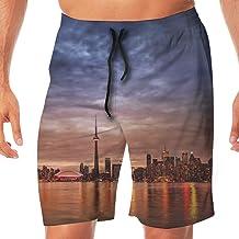 Quick Dry Men's Beach Shorts Toronto of Sunset Swim Trunks Surf Board Pants Pockets