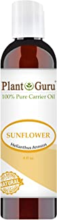 Sunflower Oil 4 oz Cold Pressed Carrier 100% Pure Natural For Skin, Body, Face, and Hair Growth Moisturizer. Great For Cre...