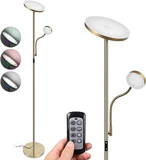Lampadaire LED Dimmable en continu,uplight mère/principale 20W 1800 lumens, lampe de lecture enfant/latérale 4W 280 lumen...