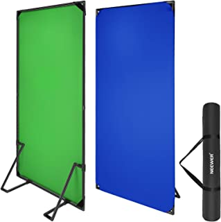 Neewer Chromakey Green Chromakey Blue Backdrop with Background Banner Stand, 3.3x6.6ft/1x2m Chroma-Key Blue/Green Flat Pan...