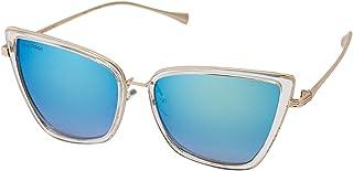 Sky Vision Cat Eye Sunglasses for Women, Blue Lens, 9038C5