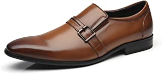Men Dress Shoes Slip On Buckle Loafer Shoes for Men Zapatoe de Hombre Loafer Comfortable Classic Modern Formal Business Shoes