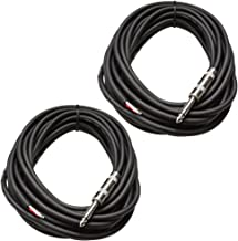 Seismic Audio QRW25Pair 25-Feet Raw Wire to 1/4-Inch Speaker Cable, 16 Guage, PA/DJ/Home Audio