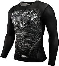 Mens Dri-fit Long Sleeve Black Spider Man Compression Athletic Shirt