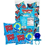 Ring Pop Individually Wrapped Back to School Candy Lollipop Suckers for Treats & Care Packages, Blue Raspberry, 30 Count