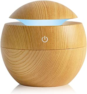 K KBAYBO Humidifier Aroma Essential Oil Diffuser, 130Ml Ultrasonic Cool Mist Humidifier With Led Night Light For Office Ho...