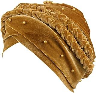 Swantop Velvet Beaded Head Turban Cap