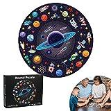 Puzzle Tondo, 1000 Pezzi Rotonda Puzzle, Puzzle Fai da te Paesaggi, Giocattoli Educativi, Creative Art Puzzle, Puzzle Impegnativi, Regalo Divertente Gioco per Famiglie per Bambini Adulti (Spazio)