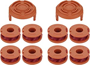 Energup 10-Pack Replacement for Worx Trimmer Spool Line, Worx WA0010 Electric String Trimmers (8 Pack Grass Trimmer Line, 2 Trimmer Cap)