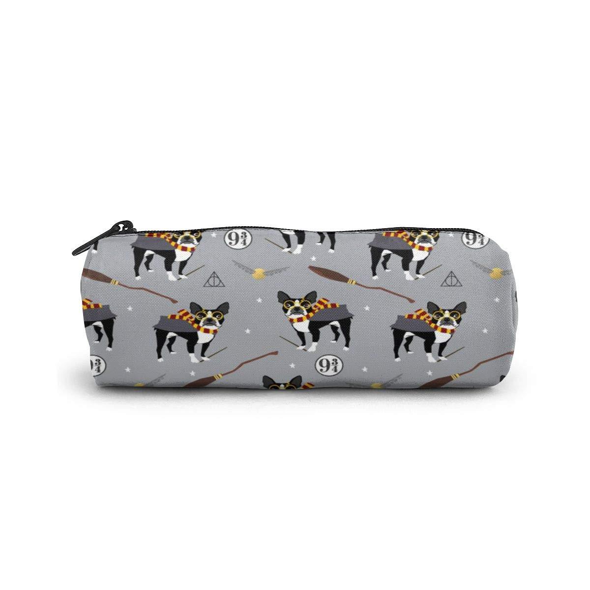 Boston Terrier Bruja patrón de perro hechicero regalo lápiz estuche papelería bolsa bolsa bolsa bolsa de cosméticos para estudiantes, oficina, colegio, escuela secundaria: Amazon.es: Oficina y papelería
