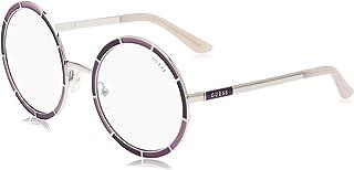 Guess Women's Sunglasses GU758483C56 - Violet/Smoke Mirror Metal