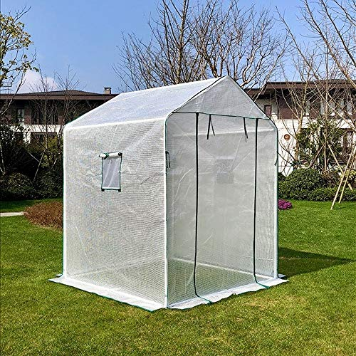 ZYF Home Greenhouse Tent, Tomato Planting Room With Sloping Roof, PE Flower and Vegetable Growing Room, Ventilation Window, 130×90×150cm (Size : 130×90×150cm)