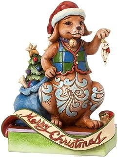 Jim Shore Heartwood Creek Unleash Christmas Joy 2014 Christmas Dog Decorating Tree Figurine