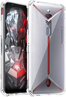 Osophter for ZTE Nubia Red Magic 3S Case Clear Transparent Reinforced Corners TPU Shock-Absorption Flexible Cell Phone Cover for ZTE Nubia Red Magic 3(Clear)