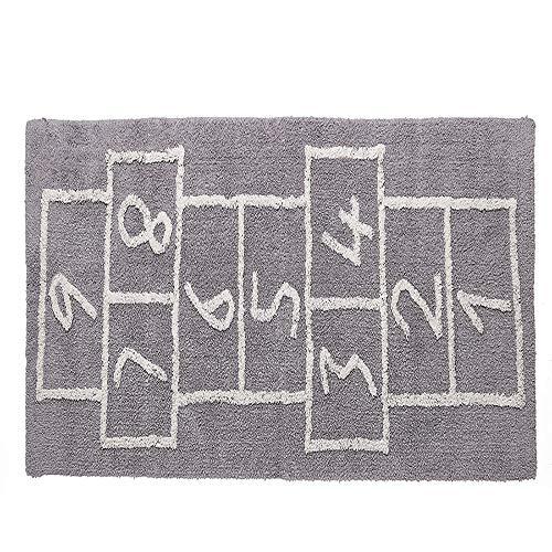 Small-rug Mode Enfants Tapis Chambre Douce Rose Tapis Designer Photo Tapis Enfants Tapis De Textile À La Maison gray-75 * 180cm