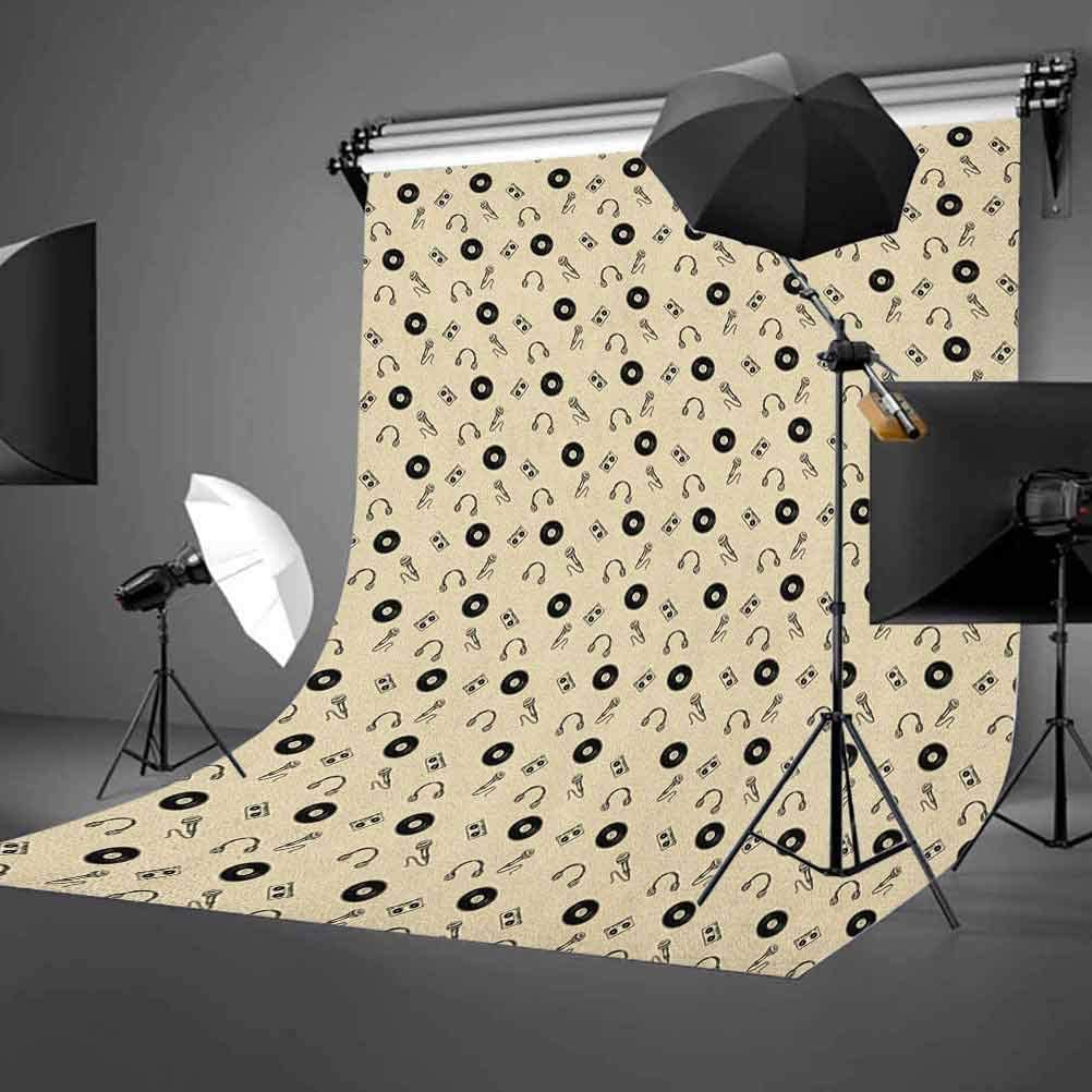 8x12 FT Red Vinyl Photography Backdrop,Hungarian Round Folk Art Pattern Tulips Traditional Kalocsai Old Fashioned Background for Photo Backdrop Baby Newborn Photo Studio Props