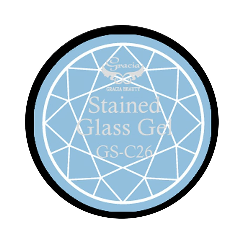 壁除去六グラシア ジェルネイル ステンドグラスジェル GSM-C26 3g  クリア UV/LED対応 カラージェル ソークオフジェル ガラスのような透明感