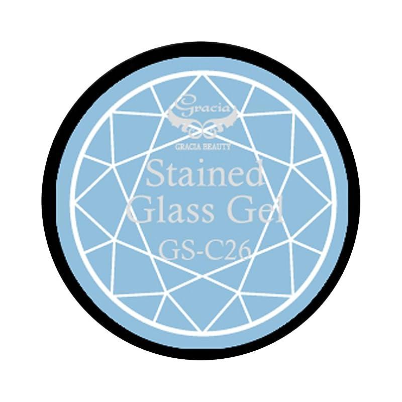 無し座るシャイニンググラシア ジェルネイル ステンドグラスジェル GSM-C26 3g  クリア UV/LED対応 カラージェル ソークオフジェル ガラスのような透明感