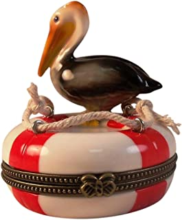 Pelican Lifesaving Ring Buoy Hinged Trinket Box phb