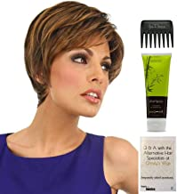 Bundle - 4 items: Fanfare Wig by Raquel Welch, Christy's Wigs Q & A Booklet, BeautiMark Synthetic Shampoo & Wide Tooth Comb - Color: RL8/29