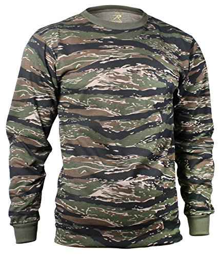 Rothco Long Sleeve Camo T-Shirt, Tiger Stripe Camo, XL
