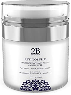 Best Anti-Aging Retinol 2.5% Facial Moisturizer Cream for Face, Eye and Neck & FAST RESULTS 1.7oz Review