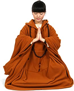 Meditation Buddhist Hooded Cloak Coat Women Men Outfit Oversize Coat
