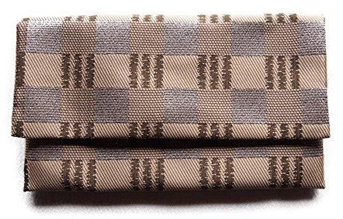 日本製 数珠入れ 数珠袋 念珠袋 メガネケース兼用 マグネット付 帯織シリーズ (帯織8)