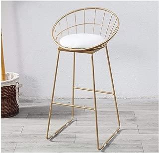 HX Bar Stool, Bar Stool High Stool Nordic Wrought Iron Modern Minimalist Bar Chair Home Creative Table Bar Chair 45/65/75CM Bar Stool, Adjustable bar Stool, high Stool (Color : White, Size : 45cm)