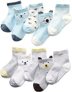 Z-Chen, Z-Chen Calcetines de Verano para bebé niño niña (Pack de 10), 0-1 años, Set 1
