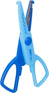 deli Craft Scissors Plastic-covered blade for safer use, Assorted Colors, ED60000
