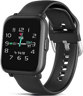 MorePro - Reloj inteligente con control de música, 18 modos deportivos, pantalla de bricolaje, monitor de fitness con oxígeno en la sangre, monitor de sueño, podómetro, contador de calorías, para hombres y mujeres