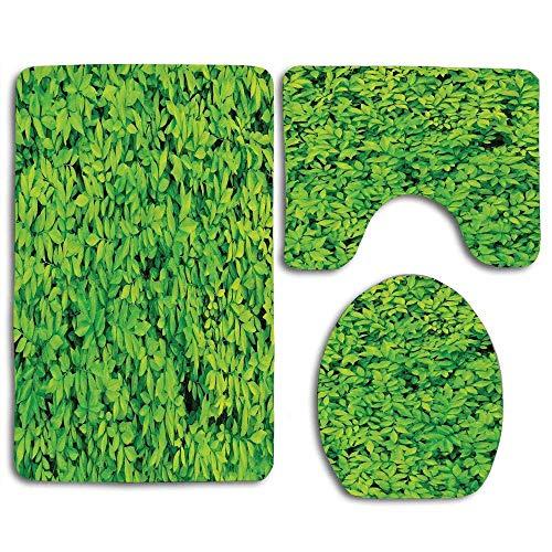 Frais Jardin Petites Feuilles Croissance Luxuriante Organique Nature en Plein Air Bois Plante Set 3pcs Tapis Tapis