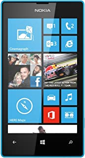 Nokia Lumia 520 8GB Unlocked GSM Windows 8 Smartphone - Cyan Blue