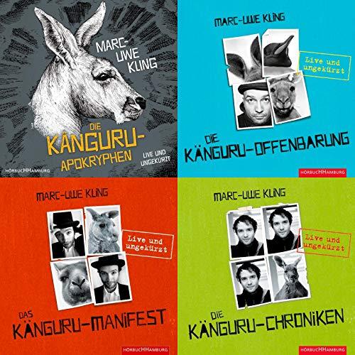 Marc-Uwe Kling Die Känguru-Reihe 4x als Hörbuch (18 CD´s im Set) + 1 passende Postkarte