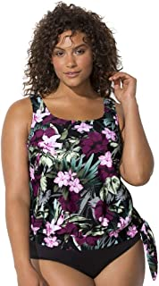 SWIMSUITSFORALL Swimsuits for All Women's Plus Size Side Tie Blouson Tankini Top