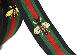 10 Yards 1.18 inches Red/Green/Black Striped Ribbon, Inspired Ribbons, Sewing Trim