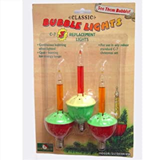 Bubble Lights Replacement Bulbs Set of 3 with C7 Base by Kurt Adler