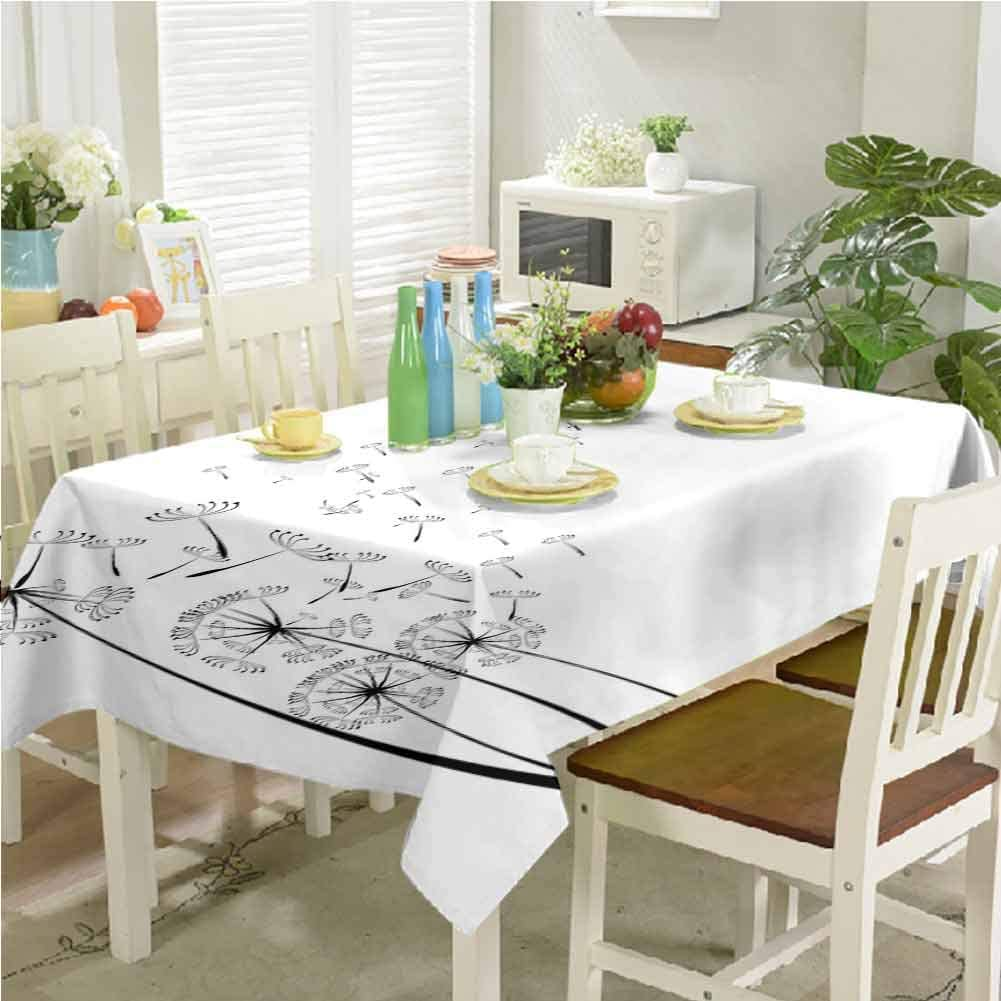 dsdsgog OFFicial shop Restaurant 1 year warranty Table Cover Dandelions Seeds Monochrome with