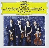 モーツァルト:弦楽四重奏曲第17番<狩>、第19番<不協和音>