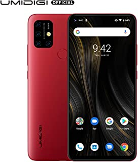 """UMIDIGI Power 3 6150mAh Monster Battery Unlock Cell Phone, 48MP Ultra Wide Macro Quad Camera, 6.53"""" FHD+ Android 10 Mobile 4G+64GB Phone 2 + 1 Card Slots, 18W Fast Charging(Support Reverse), Red"""