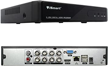 iSmart 8 Channel Full 1080P 5-in-1 DVR Security System (AHD TVI CVI IP 960H Camera Compatible) D5308TH