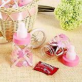 CHSYOO 24 x Rosado Baby niña Candy Bottle Caja de Regalo para Bautizo Baby Shower Babyshower Kids Party Garden Party Party Favor