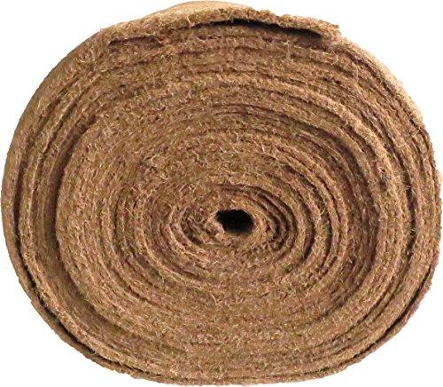 Unkrautschutzmatte aus Kokosfaser, 0,50 m x 2,50 m, ca. 7 mm dick, 1,25 m², (EUR 8,76/m²), Winterschutzmatte, Pflanzenschutzmatte, Kompostabdeckmatte,Kokosmatte, 100 % biologisch abbaubar, nachhaltig