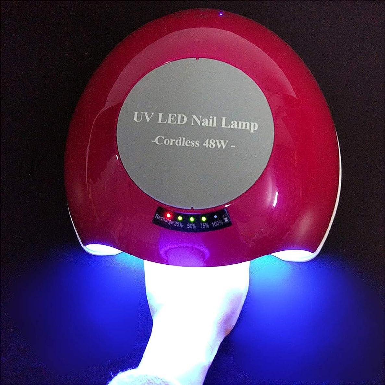 変化するコンテンポラリーシンポジウムシェラックおよびゲルの釘のための48W専門の紫外線およびLEDの釘ランプそして釘のドライヤーの表示,Red