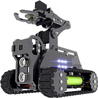 Adeept RaspTank WiFi Wireless Smart Robot Car Kit for Raspberry Pi 3 Model B+ B 2B, Tank Tracked Robot with 4-DOF Robotic ...