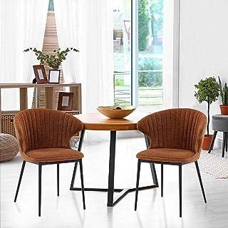 5 Seater Outdoor Lounge Sofa Modern Wicker Setting with Cushions Patio Furniture (Black Cushions) Burnt Orange